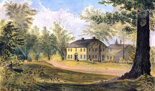 The Wayside Inn, Sudbury, Massachusetts By James Madison Alden By James Madison Alden