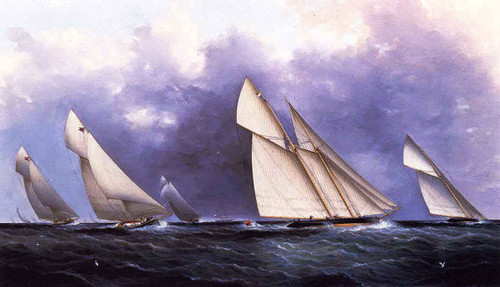 The Yacht Race By James E. Buttersworth
