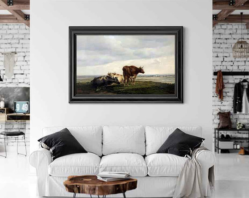 Three Cows By Thomas Sidney Cooper By Thomas Sidney Cooper