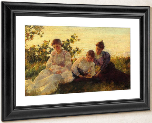 Three Women By Charles Courtney Curran By Charles Courtney Curran