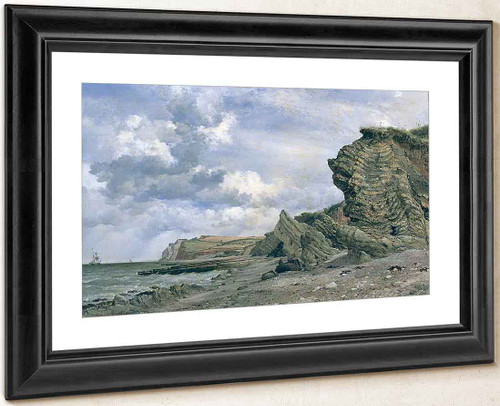 Triassic Cliffs, Blue Anchor, North Somerset By Edward William Cooke, R.A.