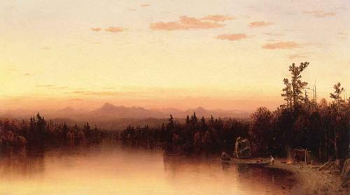 Twilight In The Adirondacks 2 By Sanford Robinson Gifford