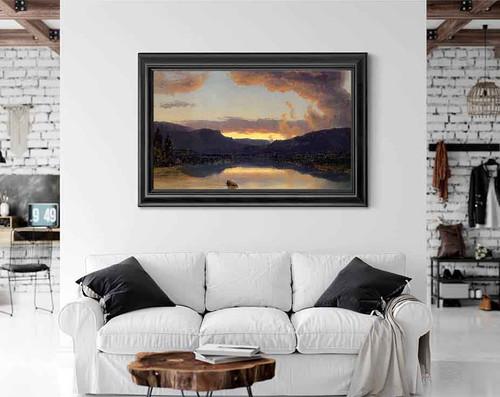 Twilight In The Adirondacks By Sanford Robinson Gifford