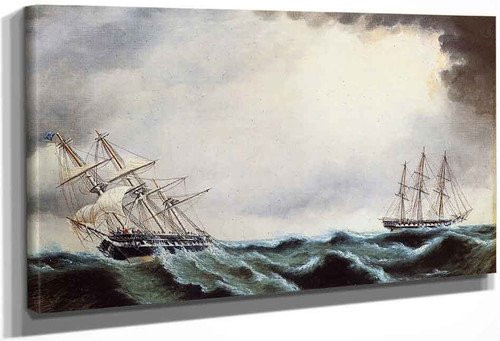 Two Clipper Ships By James E. Buttersworth