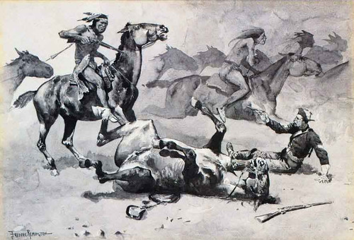 Unhorsed By Frederic Remington