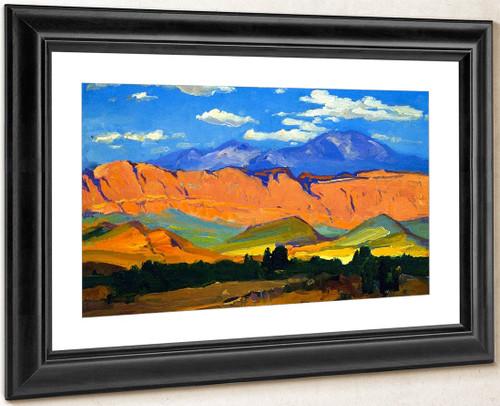 Utah Range By Franz Bischoff By Franz Bischoff