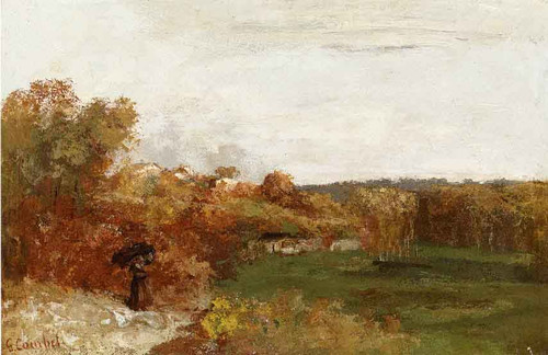 Valley At Fontcouvert By Gustave Courbet