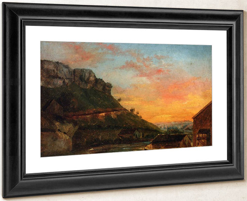 Valley Of The Loue By Gustave Courbet