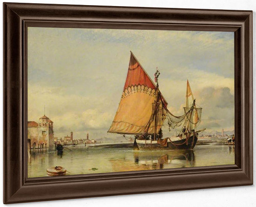 Venetian Fishing Craft Off The Adriatic Shore Of The Lido By Edward William Cooke, R.A.