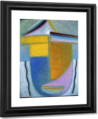 Abstract Head Winter Yellow And Orange By Alexei Jawlensky By Alexei Jawlensky
