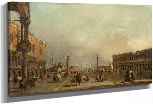Venice The Piazzetta Di San Marco By Francesco Guardi