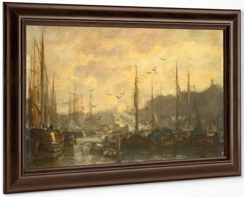 View Of A Port By Jacob Henricus Maris