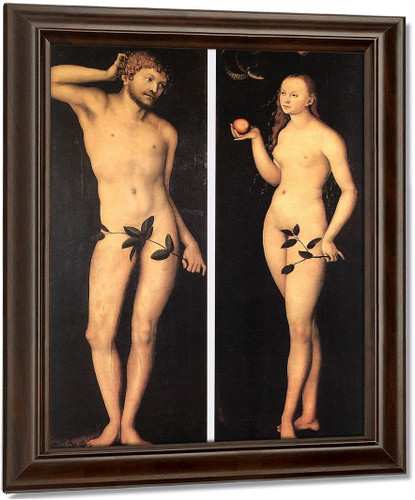 Adam And Eve3 By Lucas Cranach The Elder