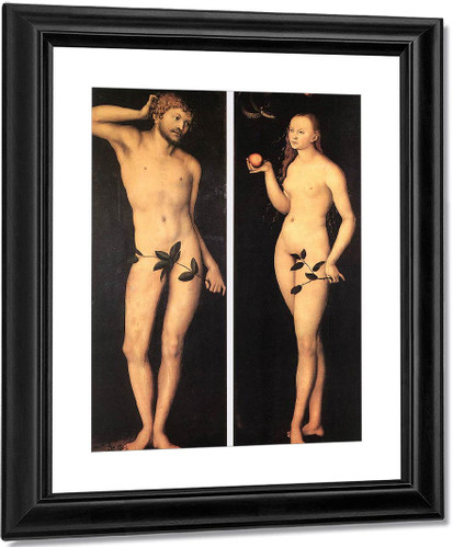 Adam And Eve3 By Lucas Cranach The Elder By Lucas Cranach The Elder
