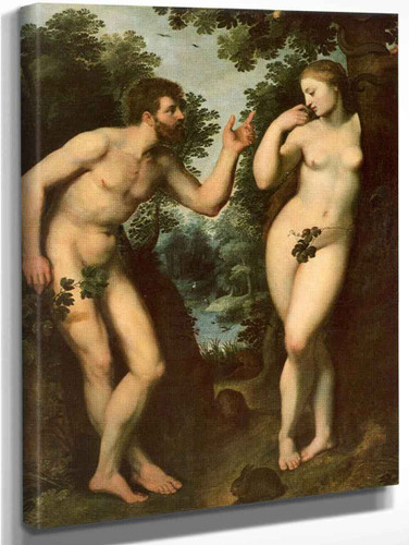 Adam And Eve By Peter Paul Rubens