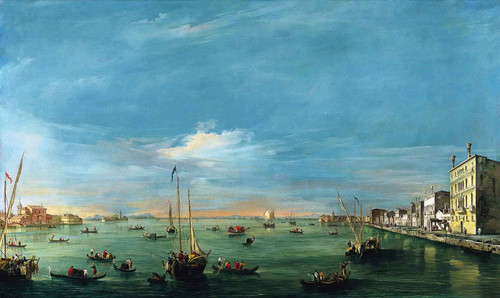 View Of The Giudecca Canal And The Zattere By Francesco Guardi