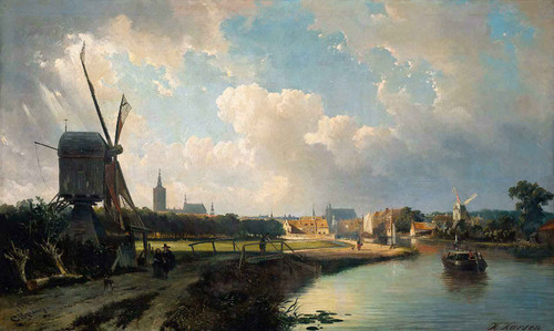 View Of The Hague By Cornelius Springer
