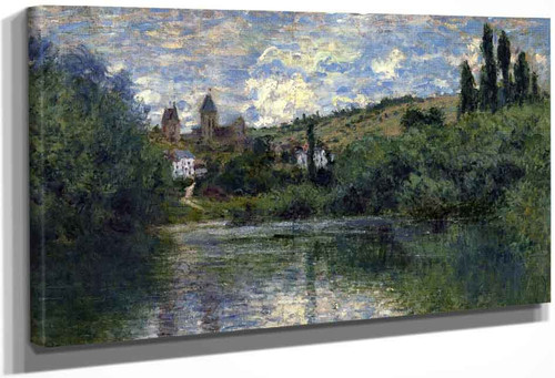 View Of Vetheuil By Claude Oscar Monet
