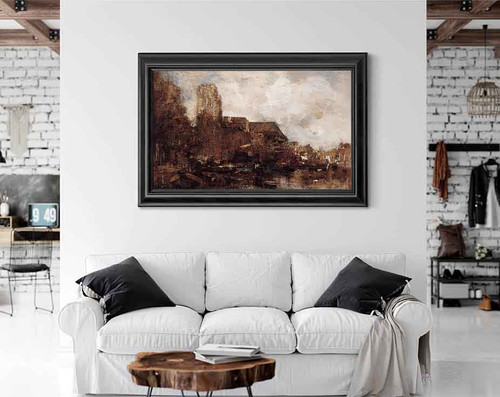 View On Dordrecht By Jacob Henricus Maris