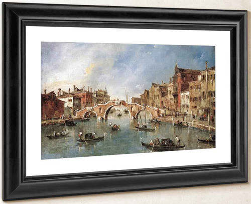 View On The Cannaregio Canale, Venice By Francesco Guardi