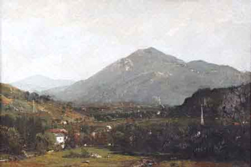 Village In The Valley By Alexander Helwig Wyant
