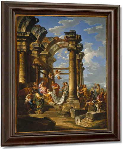 Adoration Of The Magi By Giovanni Paolo Panini