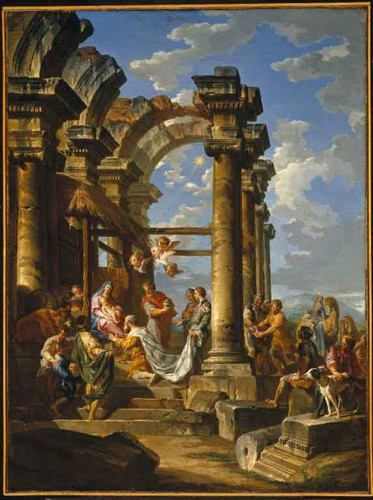Adoration Of The Magi By Giovanni Paolo Panini By Giovanni Paolo Panini