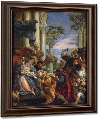 Adoration Of The Magi By Paolo Veronese Oil on Canvas Reproduction