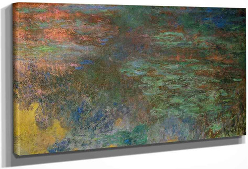 Water Lily Pond, Evening (Right Panel) By Claude Oscar Monet(French, 1840 1926)