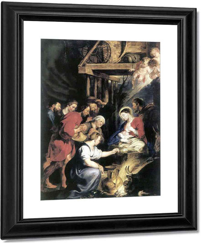 Adoration Of The Shepherds 4 By Peter Paul Rubens