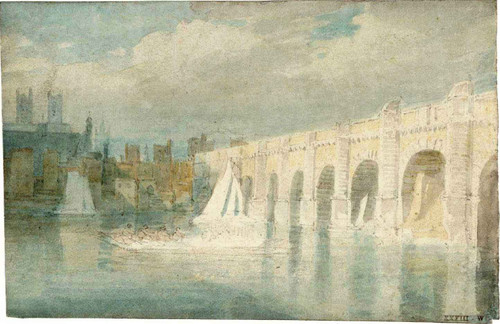 Westminster Bridge, With The Abbey Seen Across The River By Joseph Mallord William Turner