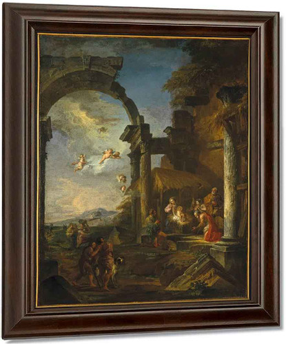 Adoration Of The Shepherds By Giovanni Paolo Panini