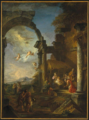 Adoration Of The Shepherds By Giovanni Paolo Panini By Giovanni Paolo Panini