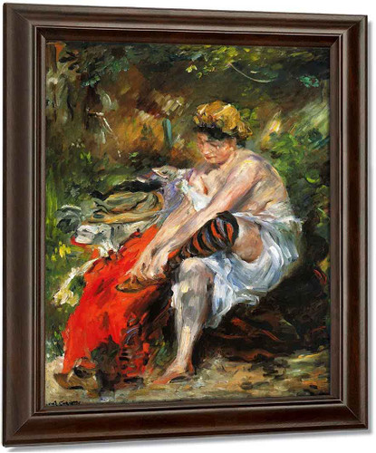 After The Bath By Lovis Corinth Oil on Canvas Reproduction