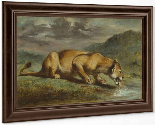 Wounded Lioness By Eugene Delacroix By Eugene Delacroix