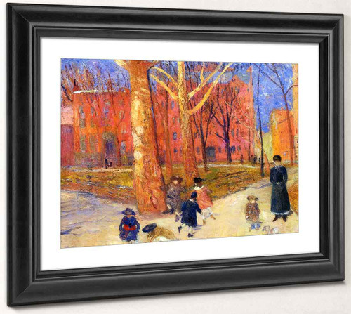 29 Washington Square By William James Glackens  By William James Glackens