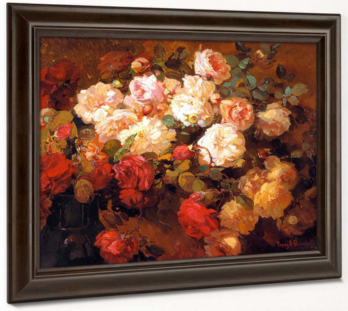 A Bouquet Of Roses By Franz Bischoff By Franz Bischoff