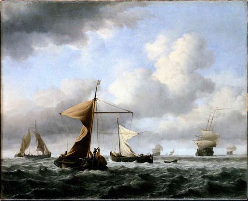 A Brisk Breeze By Willem Van De Velde The Younger