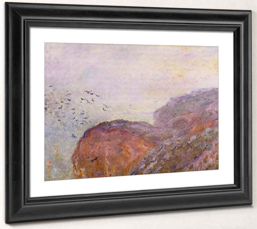 A Cliff Near Dieppe By Claude Oscar Monet