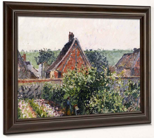 A Corner Of The Garden At Eragny By Camille Pissarro By Camille Pissarro