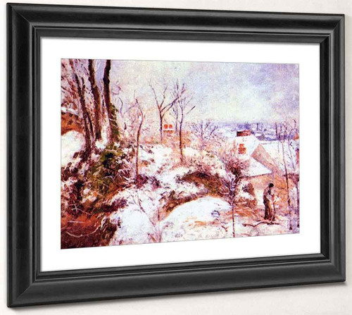 A Cottage In The Snow By Camille Pissarro By Camille Pissarro