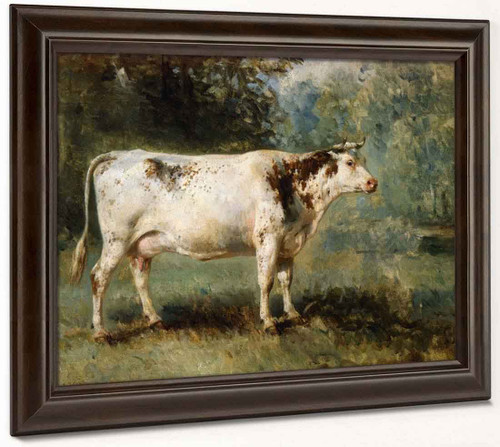 A Cow In A Landscape By Constant Troyon