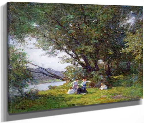 A Day In The Country By Edward Potthast By Edward Potthast