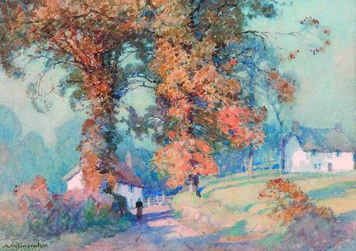 A Devonshire Lane By Albert Moulton Foweraker