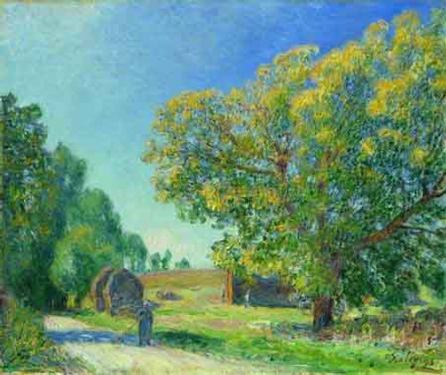 A Forest Clearing By Alfred Sisley