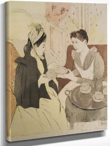 Afternoon Tea Party By Mary Cassatt