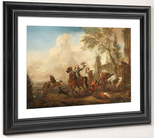 A Hawking Party Setting Out By Philips Wouwerman Dutch 1619 1668