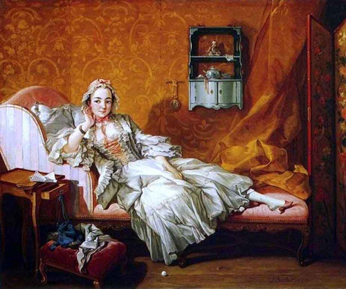A Lady On Her Day Bed By Francois Boucher