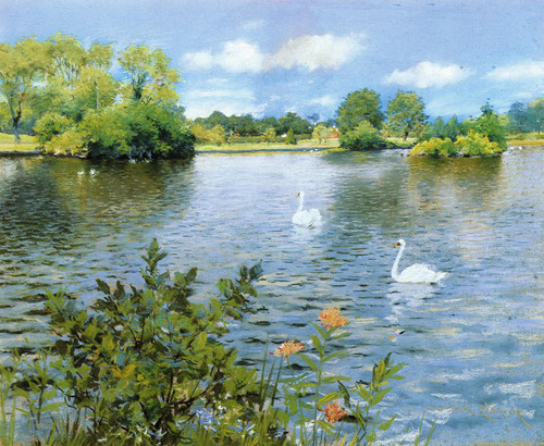 A Long Island Lake By William Merritt Chase By William Merritt Chase