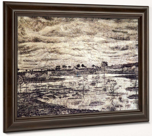 A Marsh By Vincent Van Gogh
